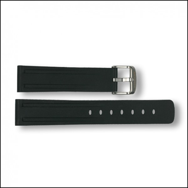 SportTaucher rubber strap | black | 20mm
