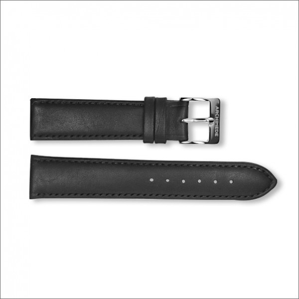 1950's leather strap | black | 20mm